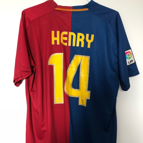 FC Barcelona Jersey Thierry Henry Size XL